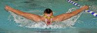 Ammon Pannach schwimmt wie gewohnt vorne weg