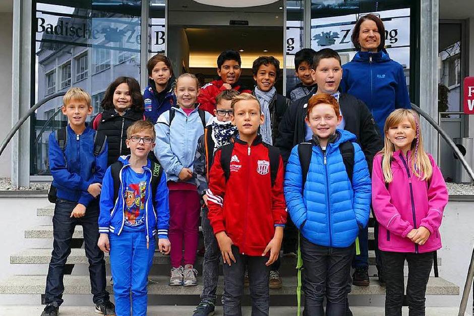 Klasse 4a der Grundschule Salzert in Lörrach (Foto: Sabrina Böttcher)