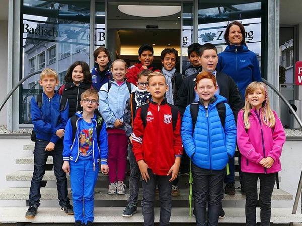 Klasse 4a der Grundschule Salzert in Lörrach