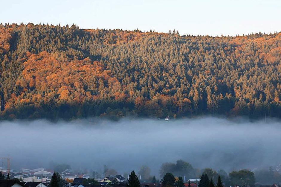 Reichenbach noch teilweise im Nebel (Foto: Theo Weber )