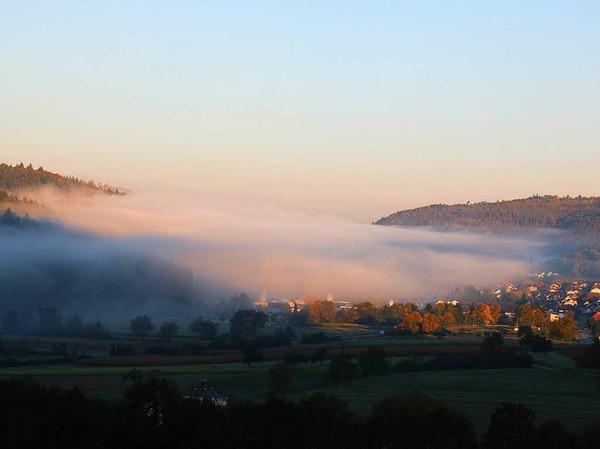 Reichenbach noch teilweise im Nebel