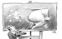 G.W. Bush, Kunstmaler, mit seinem neuesten Porträt …
