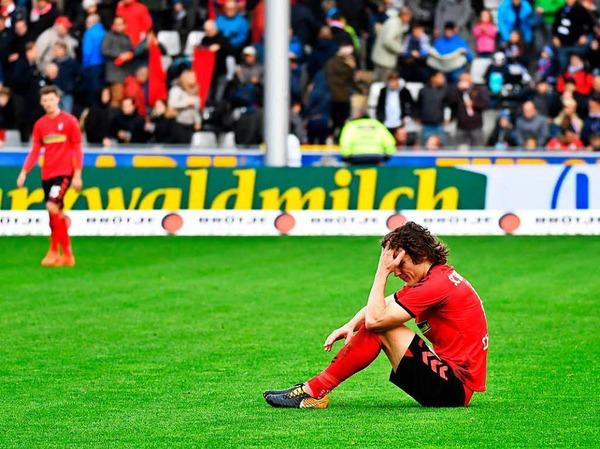 Punktgewinn oder Punktverlust? Caglar Söyüncü ist mit dem Ergebnis scheinbar nicht zufrieden.