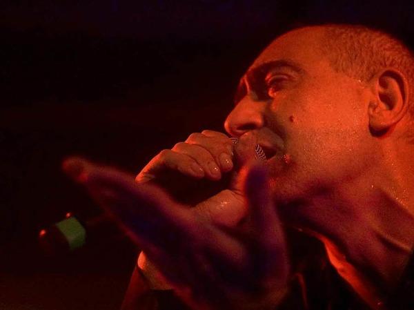 Gabriel Delgado-López von DAF im Café Atlantik.