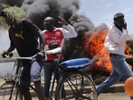 Proteste vor der Wahl in Kenia