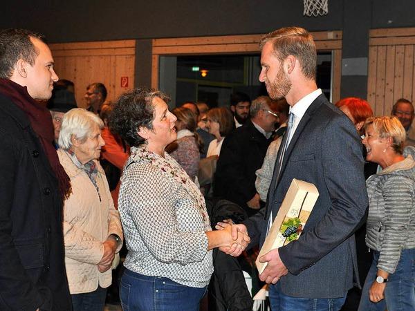 Viele wollten dem neuen Bürgermeister persönlich gratulieren.