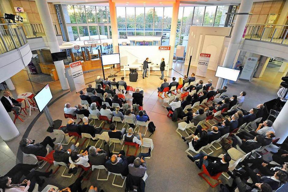 Business-Talk in der Agentur für Arbeit. (Foto: Michael Bamberger)