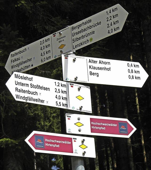 Dunkler Tann und Wanderwege rund um Le...deutsch-französischen Wandertags dar.   | Foto: Manfred-G. Haderer