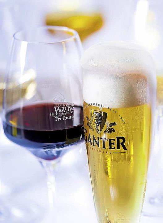 Zu jedem Gang des Spitzenmenüs werden ein Wein und ein Bier gereicht.    Foto: PR