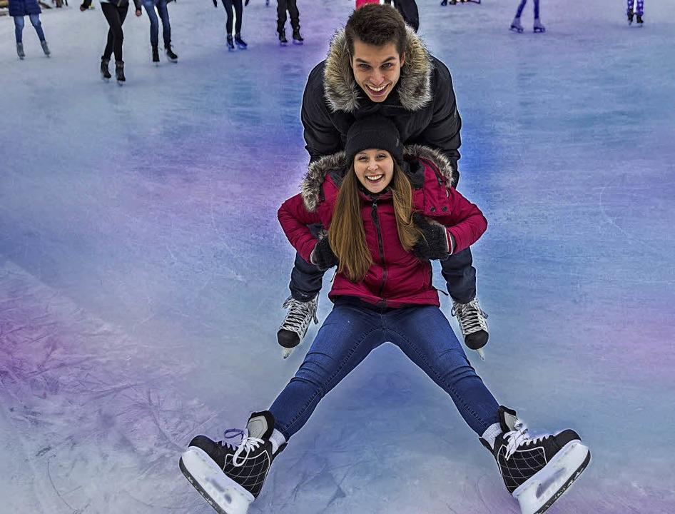 Auf dem Weg zu den Olympischen Spielen...aben die beiden viel Spaß auf dem Eis.  | Foto: Pololia (stock.adobe.com)