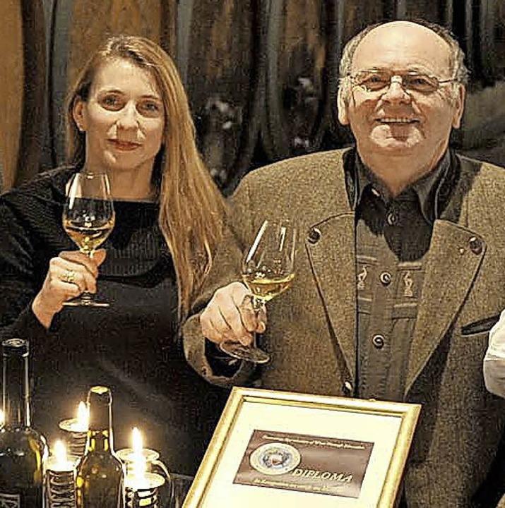 Heinrich Männle und Tochter Sylvia bei einer früheren Ehrung  | Foto: bz
