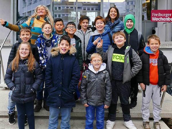 Klasse 4b der Sprachheilschule in Freiburg