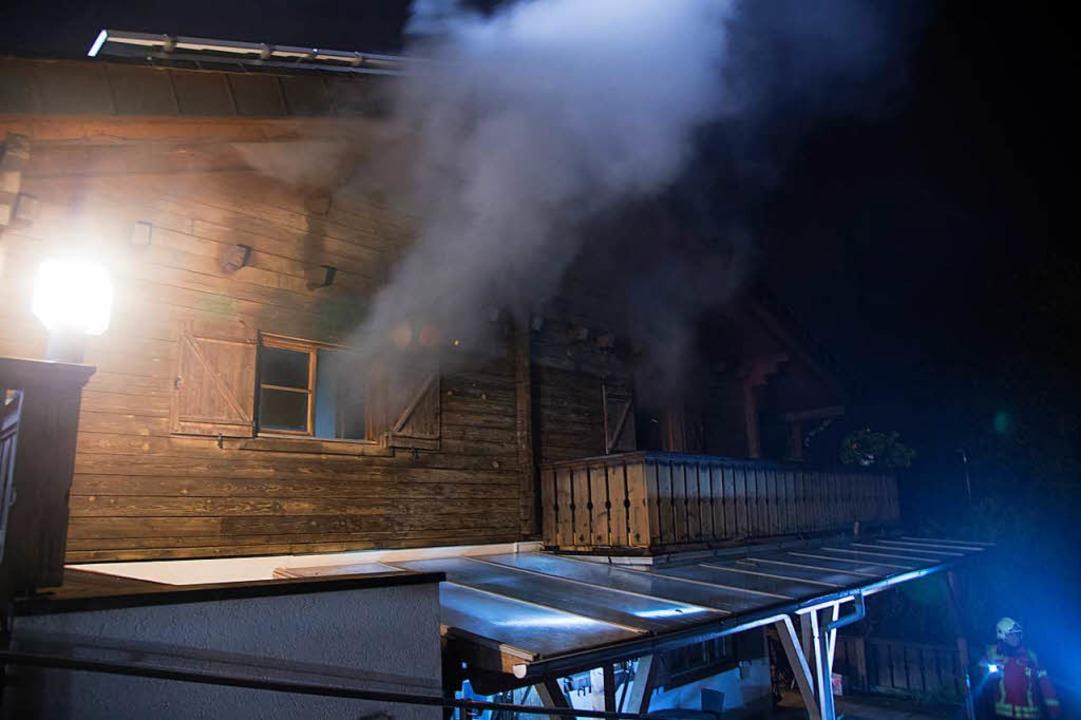 Hoher Sachschaden entstand bei einem Brand in einem Wohnhaus in Auggen.  | Foto: Volker Münch