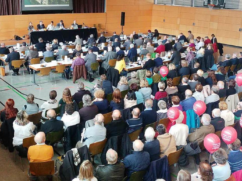Der Kreistag stimmte  am Mittwochnachm...s Bad Säckingen zum 31. Dezember 2017.  | Foto: Held