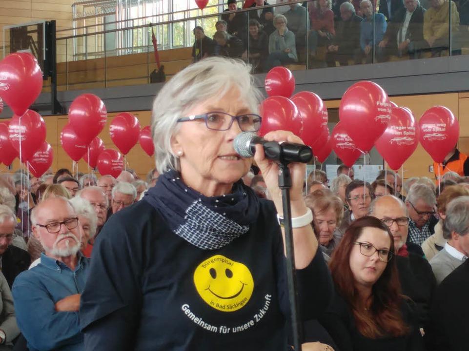 Beatrix Köster, Vorsitzende des Förder... den Erhalt des Bad Säckinger Spitals.  | Foto: Felix Held