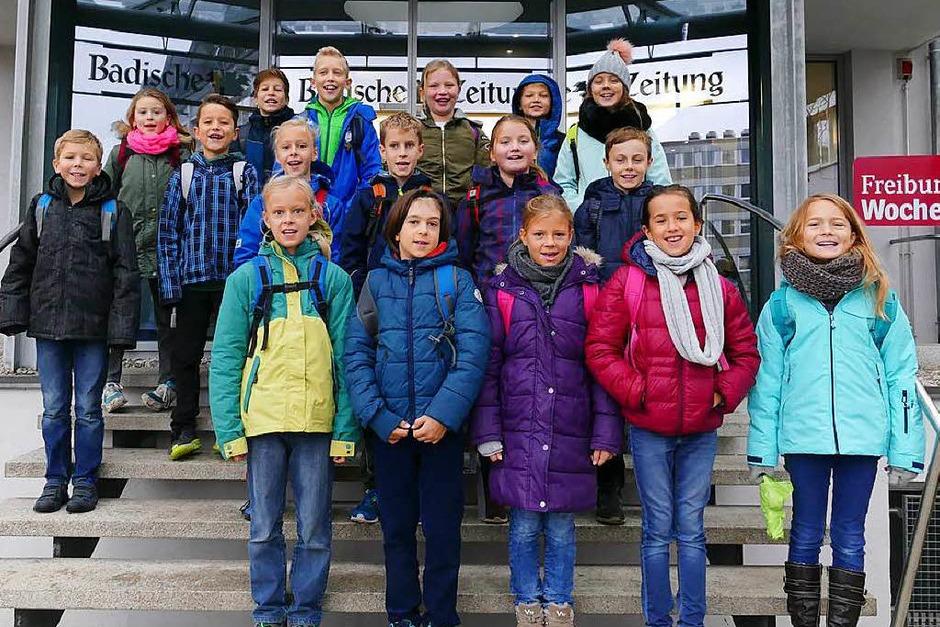 Klasse 4 der Hofackerschule in Waltershofen (Foto: BZ)
