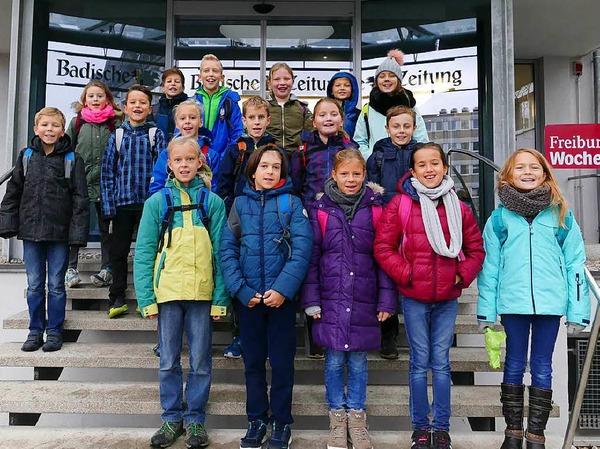 Klasse 4 der Hofackerschule in Waltershofen