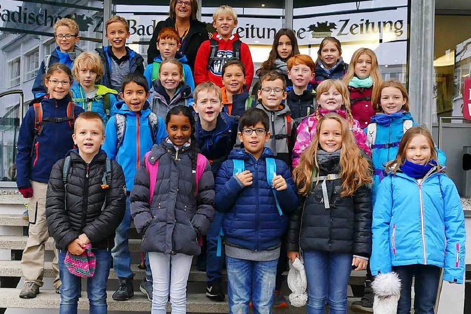 Klasse 4d der Grundschule in Denzlingen (Foto: Kim Lübke)