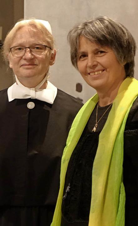 Gertrud Maria Güra und Schwester Ursula Zimmermann   | Foto: Frey