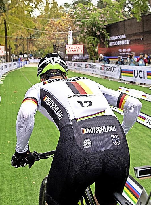 Einfach Vollgas: Heiko Hog in der Sekunde nach dem Start.  | Foto: Armin M. Küstenbrück