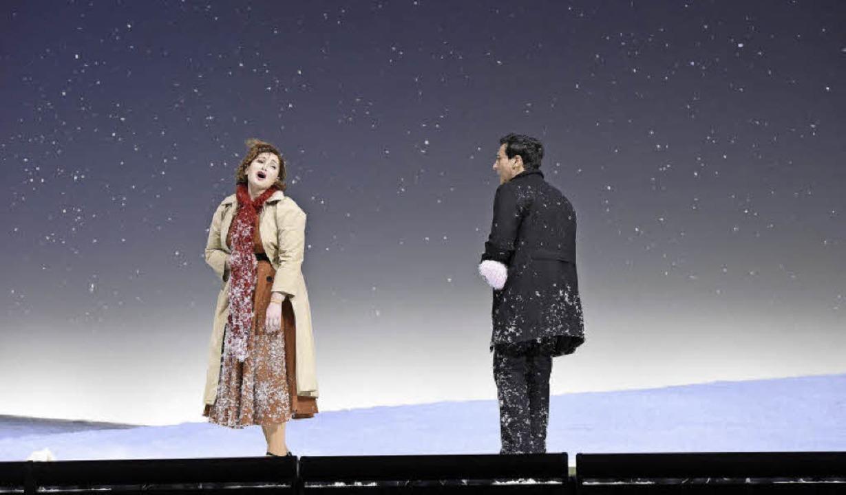 "Zarina Abaeva und Leonardo Capalbo in ...ener ""Bohème""-Inszenierung  | Foto: Kremper"
