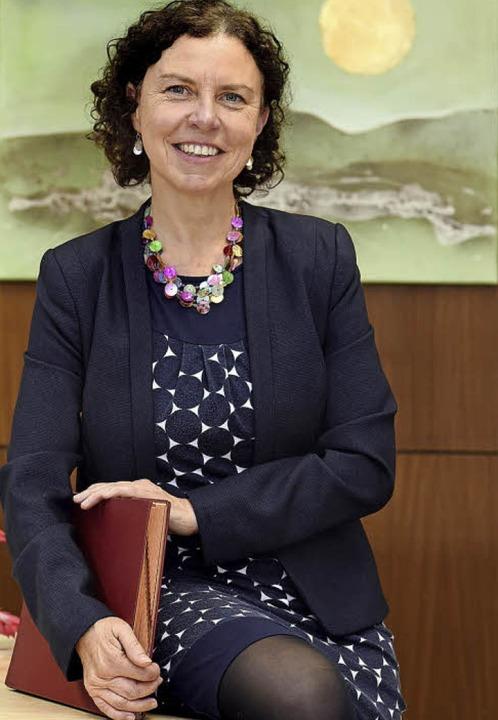 Helga Schäuble in ihrem Büro.   | Foto: Thomas Kunz