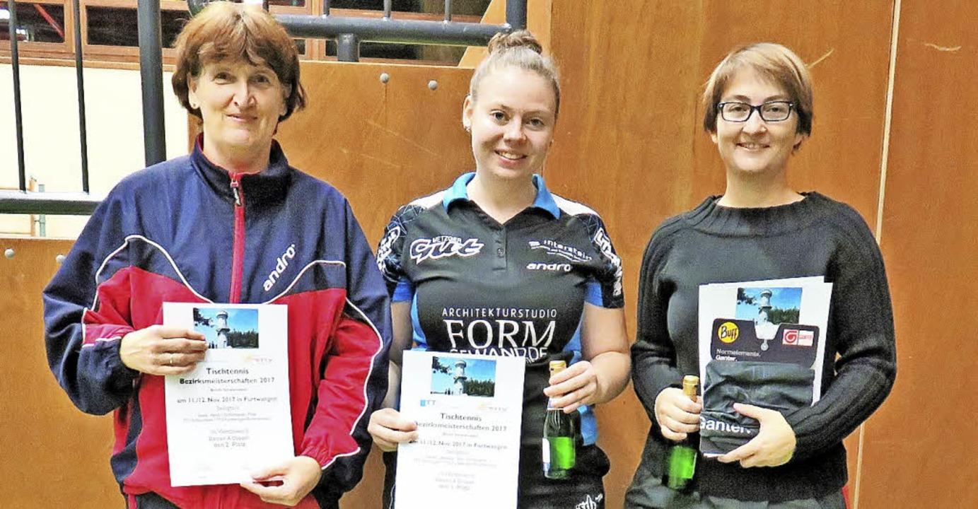 Heidi Isele (links) vom TTC Schluchsee....-Schönenbach) gewannen das A-Doppel.   | Foto: ZVG