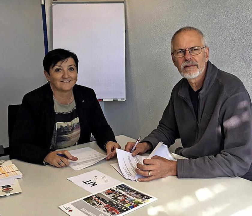 Das Kriseninterventionsteam des DRK-Kr...: Margarete Lenz und Andreas Wagner.    | Foto: DRK