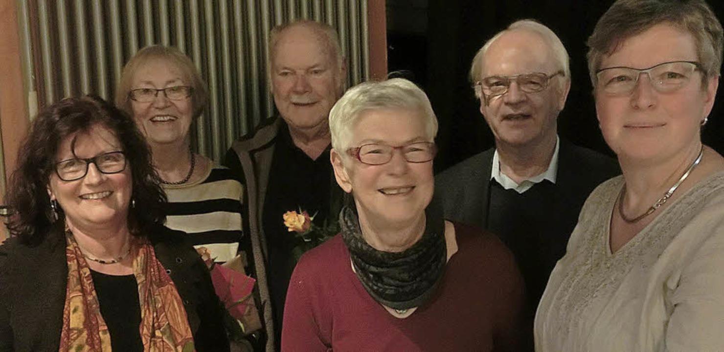 Angelika Beck-Bürkert, Waltraud Spausz...rd Pfahler und Anja Hanke (von links)   | Foto: GEW
