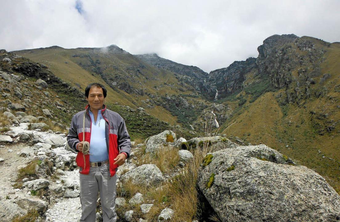 Kläger Saul Luciano Lliuya aus Huaraz (Peru) in seiner Heimat   | Foto: dpa