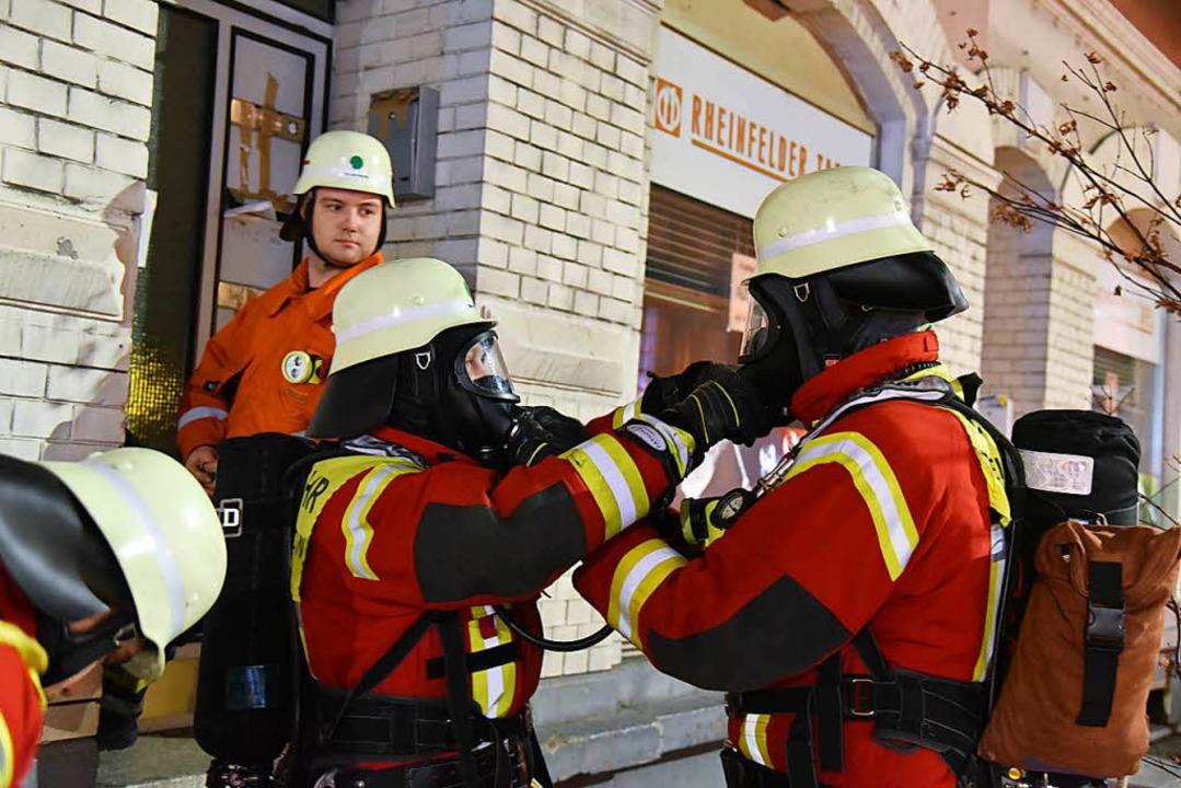 27 Einsatzkräfte waren an der Übung beteiligt.    Foto: Martin Eckert