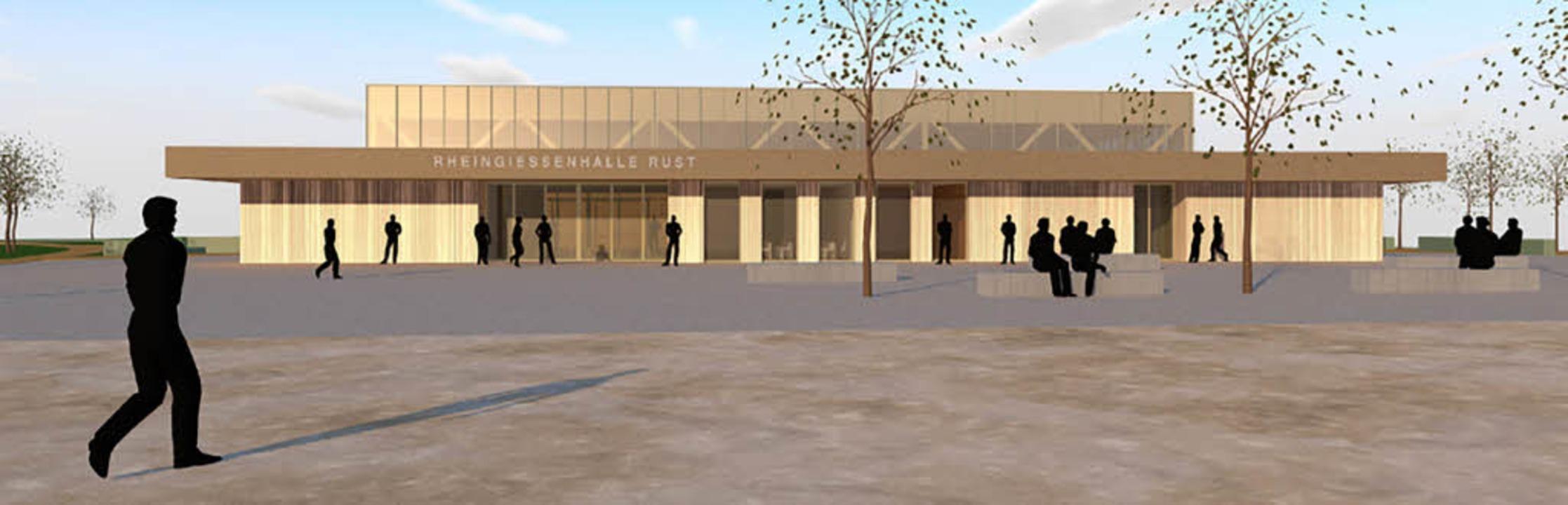 Viel Holz und Glas: So soll die neue Halle aussehen.    | Foto: Visualisierung: Architektenbüro Erny
