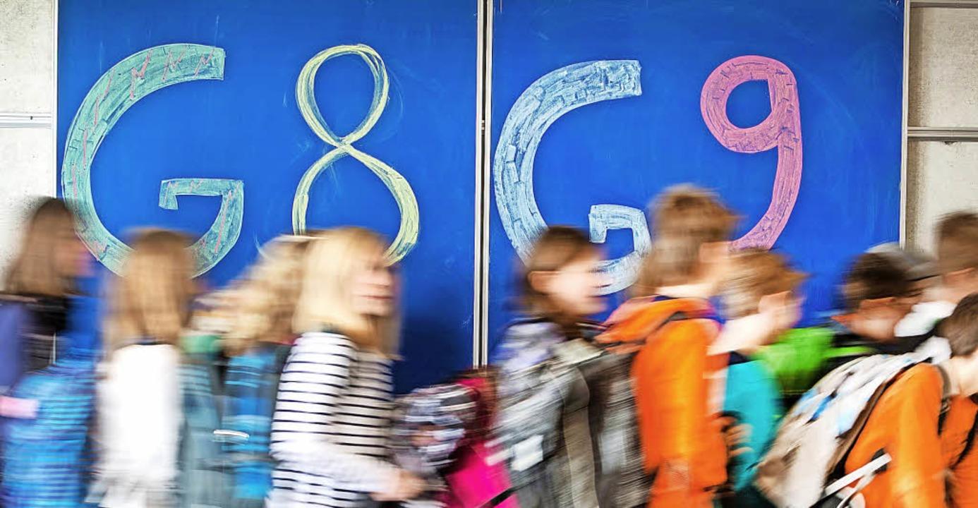 Klare Tendenz: Wo Schüler die Wahl zwi... es seit 2014/15 nur noch G9-Klassen.   | Foto: A. Weigel (dpa)