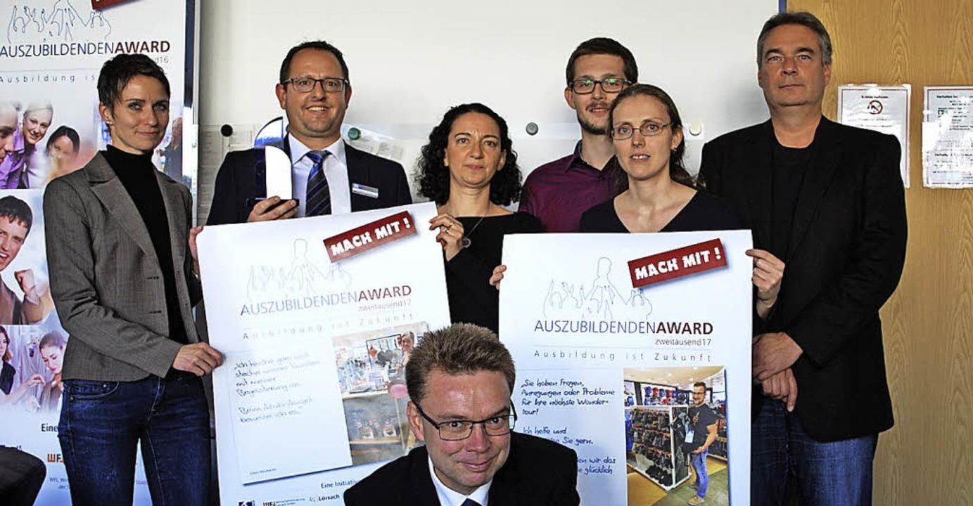 Alexandra Podjadtke, Matthias Hottinge...erbung für den Azubi-Award am Freitag.  | Foto: Thomas Loisl Mink