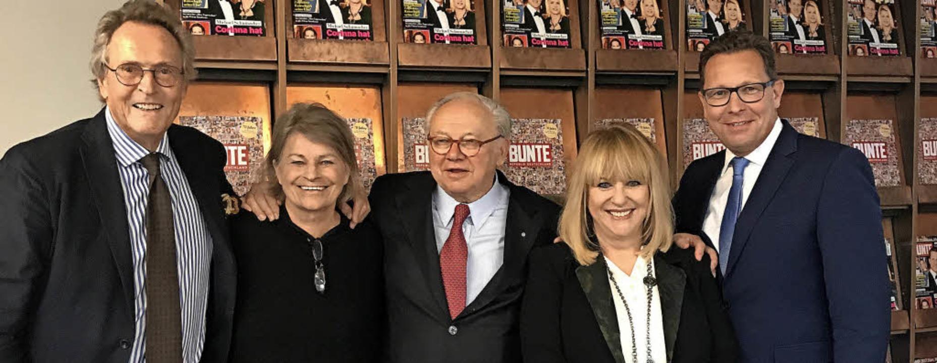 Seltener Anblick:  vier frühere und de...6-2016) und Robert Pölzer (seit 2016)   | Foto: Hubert Burda Media