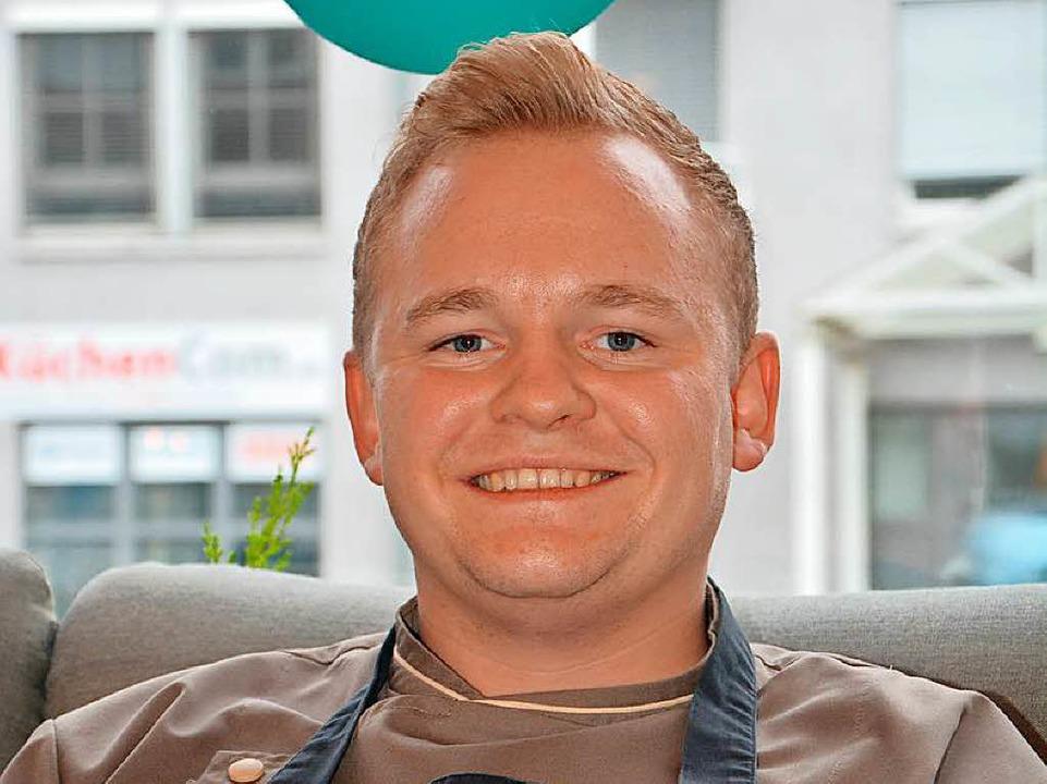 Der 25-jährige Nicolai P. Wiedmer, Küc...im Hotel-Restaurant Eckert in Grenzach  | Foto: Ralf H. Dorweiler