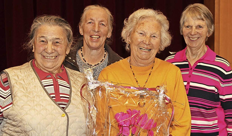 von links Maria Schuler, Pauline Zähringer, Irmgard Bauer und Helga Potowski.    Foto: Eva Korinth