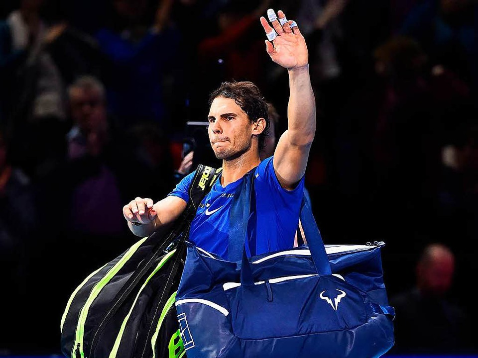 Schmerzen zwingen zur Aufgabe: Rafael Nadel, Nummer eins der Tenniswelt    | Foto: afp