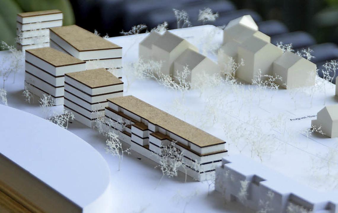 88 Wohnungen sollen an der August-Bauer-Straße in zwei Wohnhäusern entstehen.   | Foto: SENF