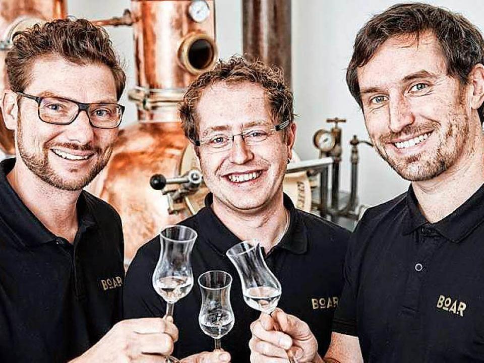 Erfolgstrio aus dem Schwarzwald und Sp..., Markus Kessler und Torsten Boschert     Foto: suwa