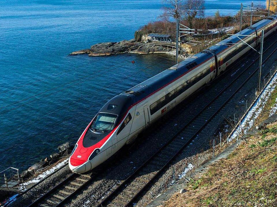 Der ETR 610 auf der Schiene  | Foto: SBB