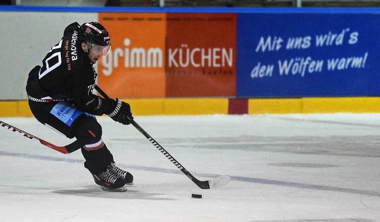 EHC-Spieler Jakub Babka im Spiel gegen Riessersee (Archivbild)  | Foto: Patrick Seeger