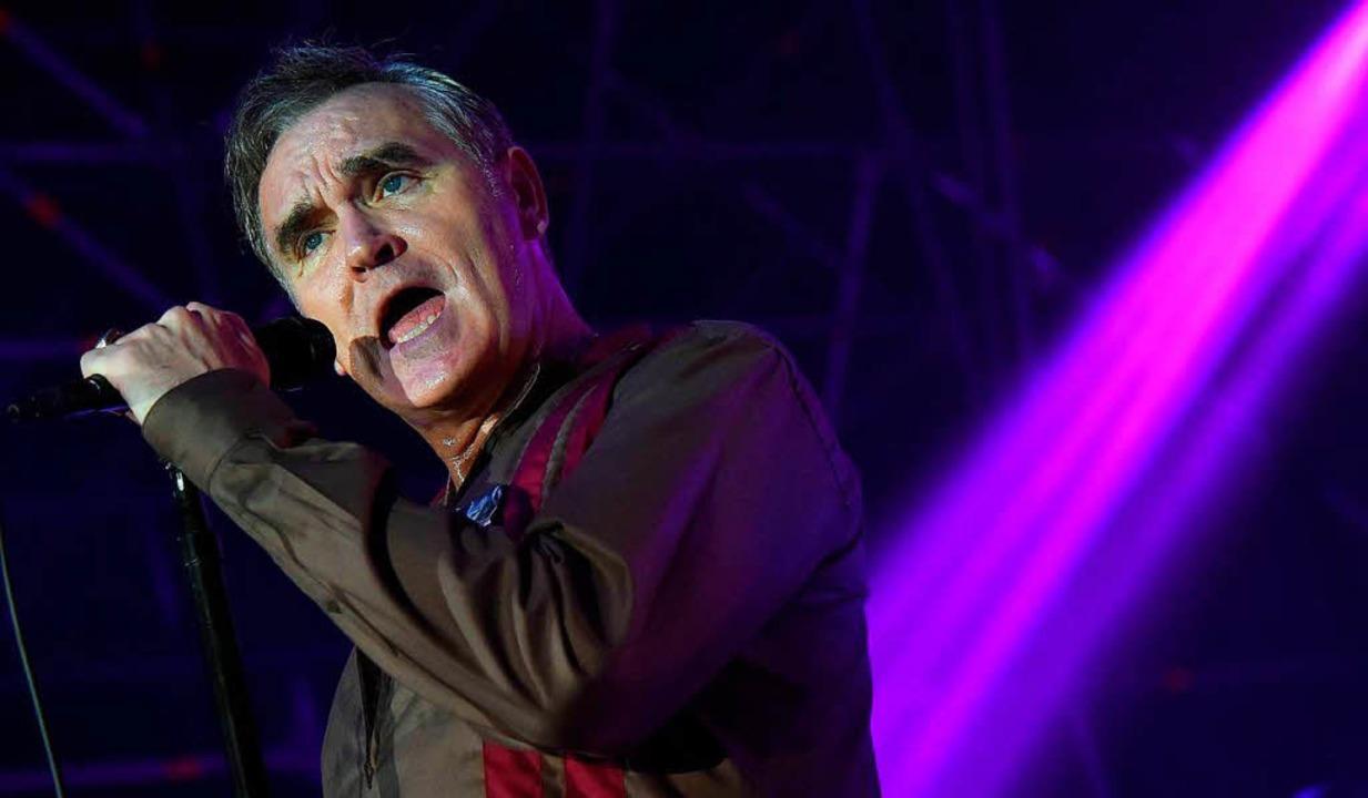 Morrissey bei einem Konzert in Rom im Jahr 2014.  | Foto: dpa