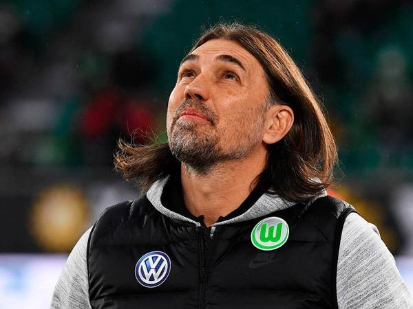 Göttlicher Beistand? Martin Schmidt vom VfL Wolfsburg wollte nach sieben Remis in Folge gewinnen.