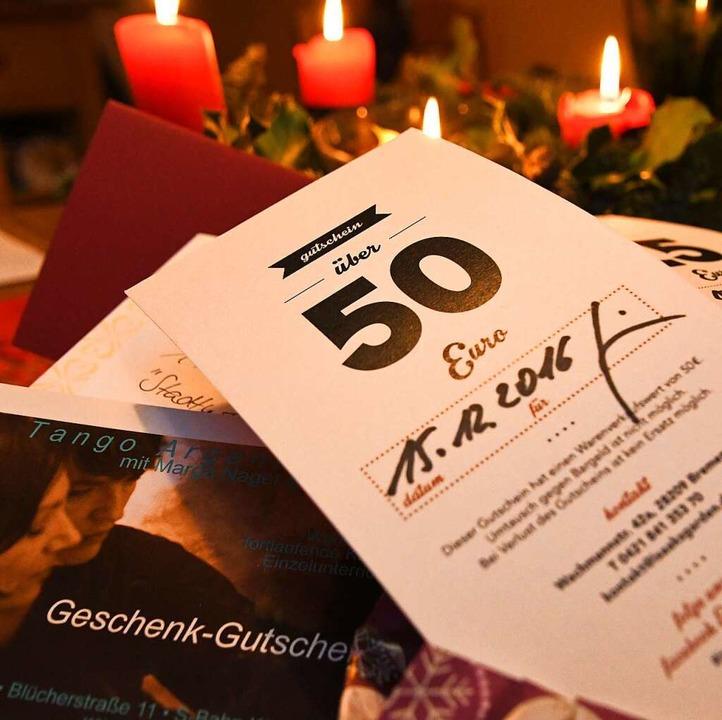 In Deutschland ist ein  Geschenk-Gutsc...echnet ab Ende des Ausstellungsjahres.  | Foto: dpa