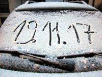 In Bad Säckingen gab es den ersten Schnee