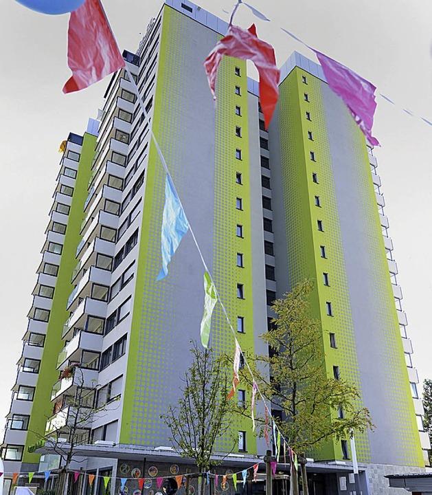 Hochhaus der Stadtbau an der Bugginger Straße   | Foto: Rita Eggstein