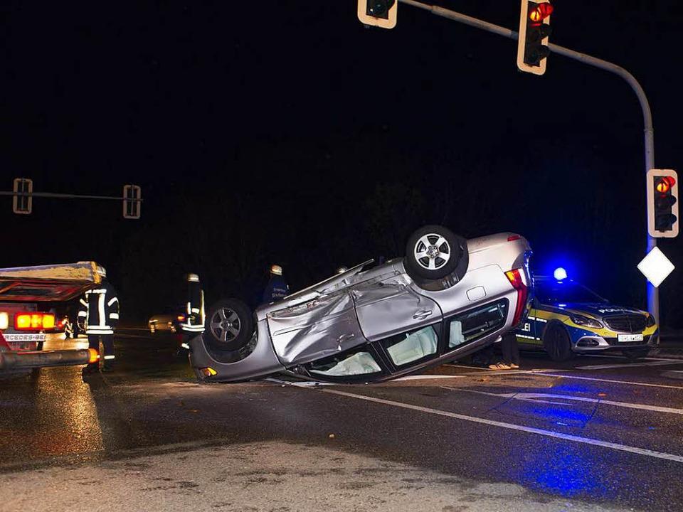 Schwerer Verkehrsunfall ging glimpflich aus - Staufen - Badische Zeitung