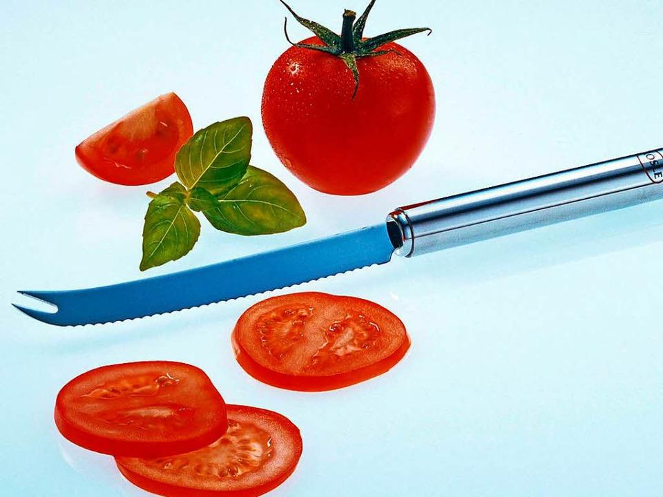 Scharfe Messer sollte man nicht in die Spülmaschine stecken.  | Foto: Rösle/tmn