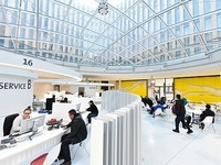 Servicezentrum des neuen Rathauses ist eröffnet worden